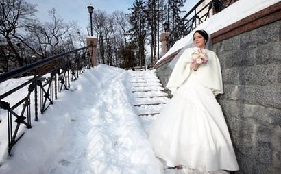 Что одеть зимой невесте