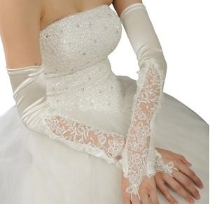длинные перчатки невесты