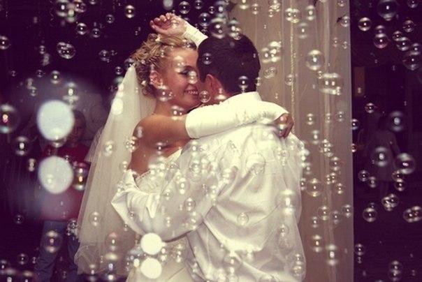 спецэффекты на свадьбе, пузыри