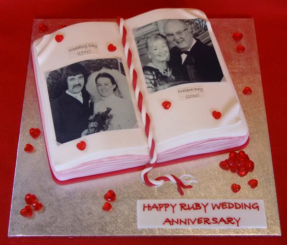 Торт на рубиновую свадьбу