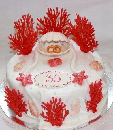 торт для коралловой свадьбы
