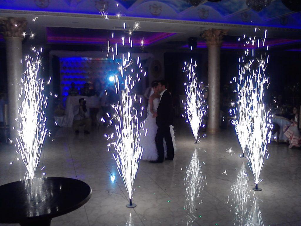 фейерверки-фонтаны в помещении
