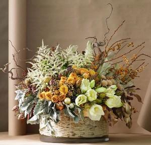 Оформление интерьера флористическими объектами