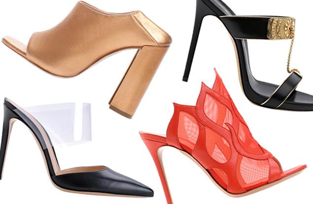 туфли мюли - модные шлепанцы