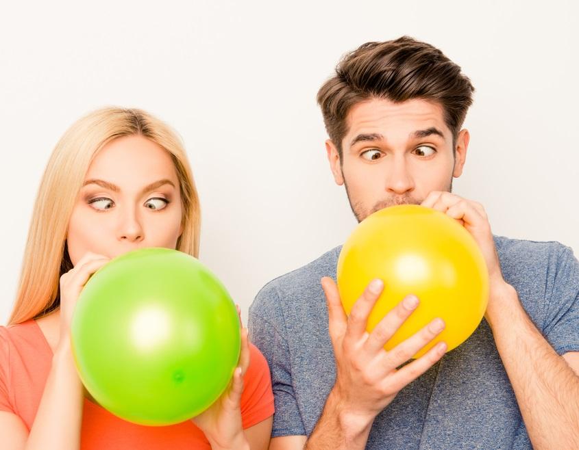 Конкурсы с шарами. Идеи для вечеринки