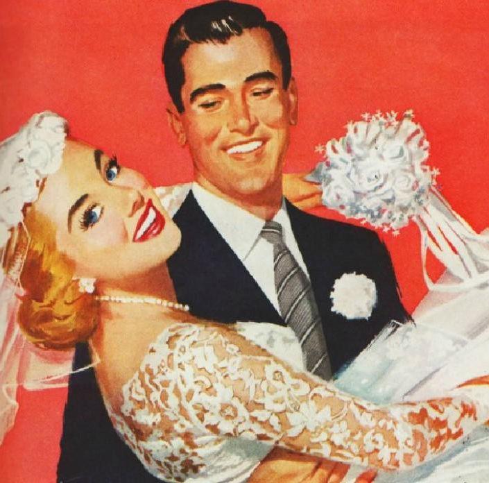 Свадьба в ретро-стиле — эффектный антураж