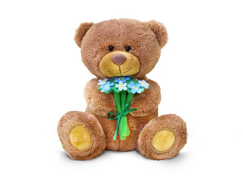 День Матери символ - медвежонок с незабудками